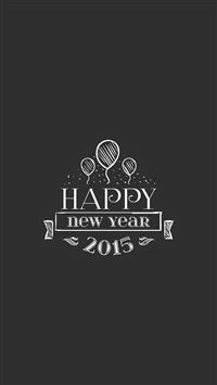 Happy New Year 2015 Retro Insignia iPhone 6(s)~8(s) wallpaper