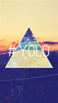 YOLO You Only Live Once Retro iPhone 6(s)~8(s) wallpaper