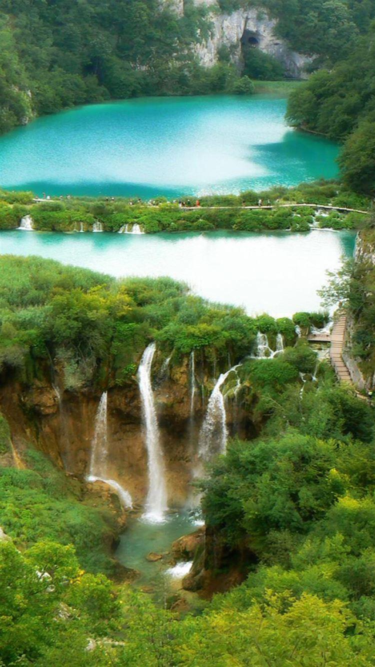 Nature Fairy Waterfall Forest Landscape iphone 8 wallpaper ilikewallpaper com