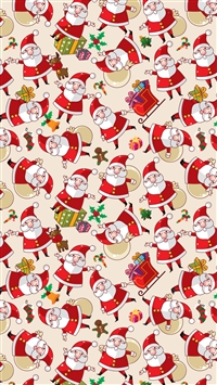 Santa Claus Pattern Texture Background iPhone 6(s)~8(s) wallpaper