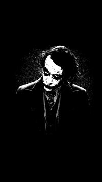 The Joker Batman Black White iPhone 6(s)~8(s) wallpaper