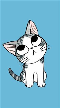 Cute Cartoon Kitten iPhone 6(s)~8(s) wallpaper