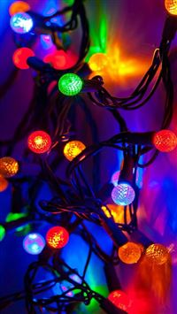 New Year 2015 Colorful Lights Decoration iPhone 6(s)~8(s) wallpaper