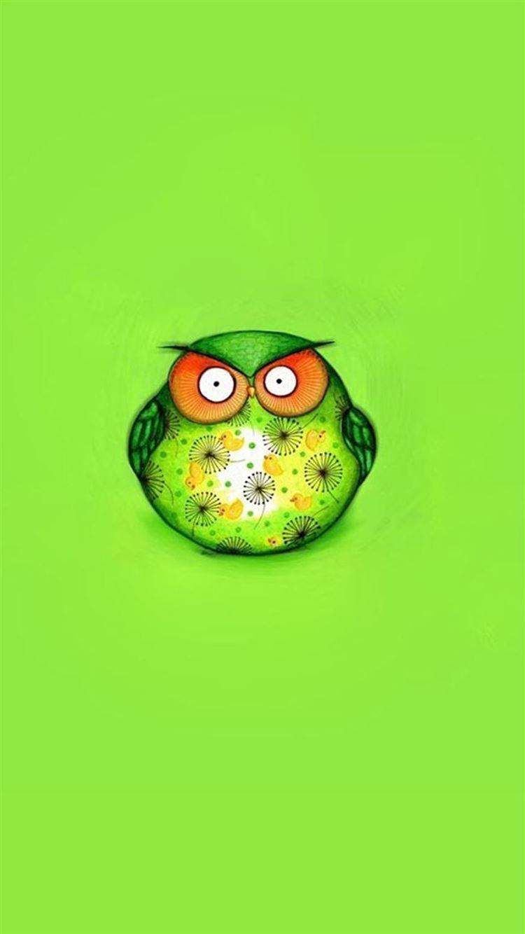 Cute Green Bird Iphone 8 Wallpapers Free Download