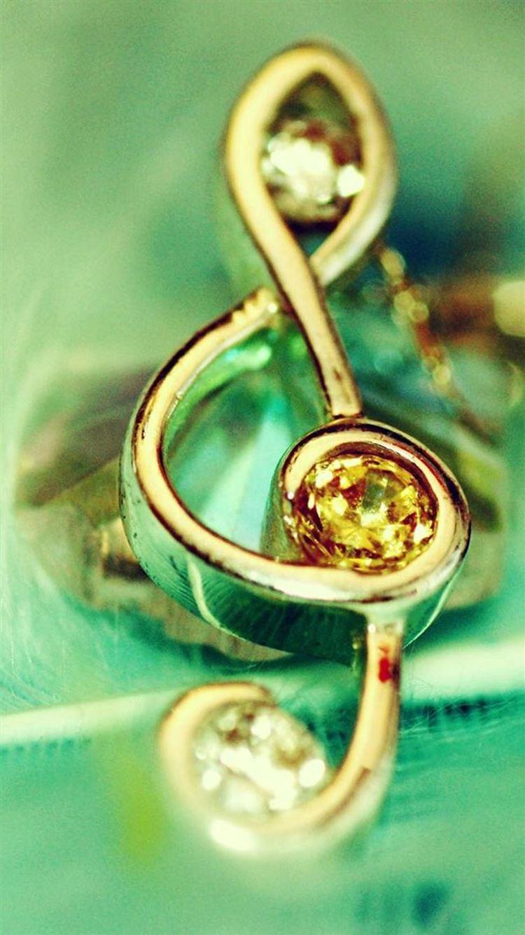 Golden Music Diamond Glow Iphone 8 Wallpapers Free Download