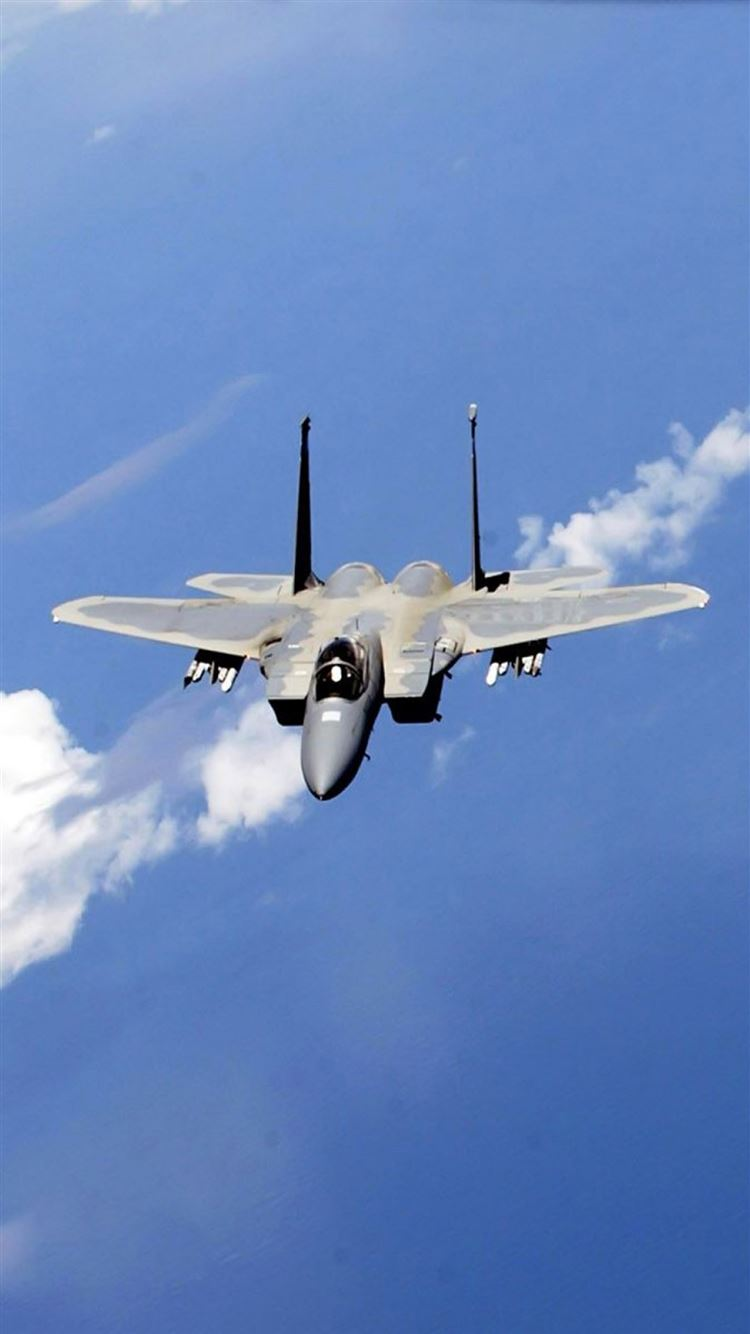 F 21 Eagle Fighter In Blue Sky iPhone 21 Wallpapers Free Download