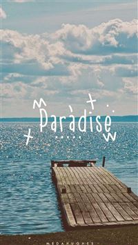 Paradise Beach Dock iPhone 6(s)~8(s) wallpaper