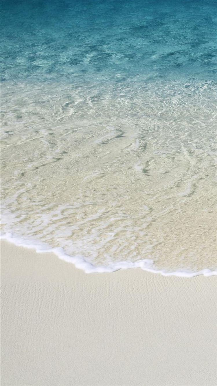Nature Clear Ocean Wave Beach Iphone 8 Wallpapers Free Download