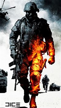 Military Burning Soldier iPhone 6(s)~8(s) wallpaper