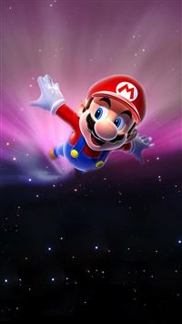 Super Mario Flying Poster Background iPhone 6(s)~8(s) wallpaper