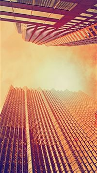 Skyscrapers At Noon Look Up iPhone 6(s)~8(s) wallpaper