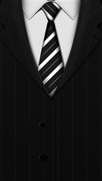 Abstract Black Suit Tie Background iPhone 6(s)~8(s) wallpaper
