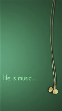 Life Is Music Simple Art iPhone 6(s)~8(s) wallpaper