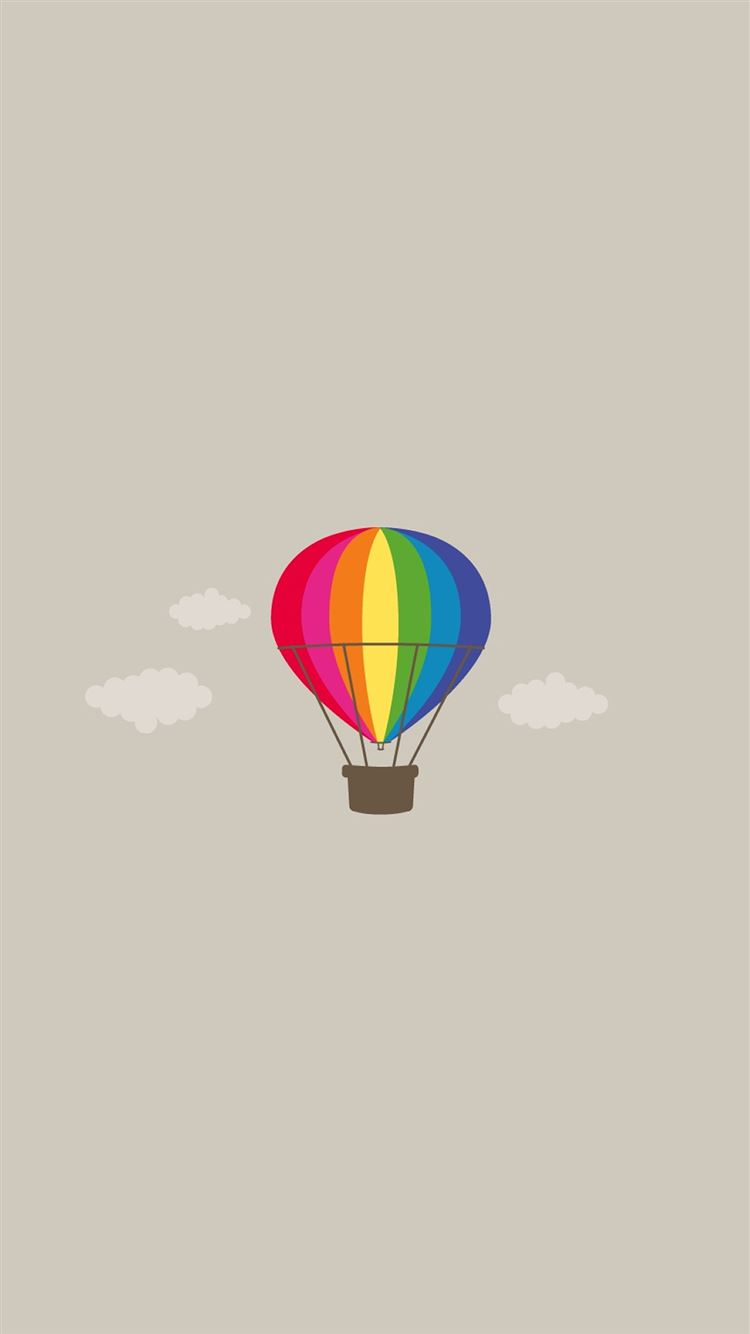 Simple Pure Hot Air Balloon Illustration Background Iphone 8