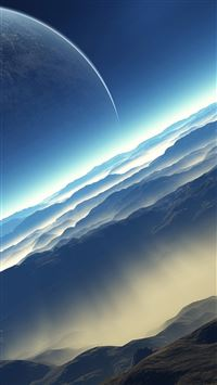Blue Space Landscape iPhone 6(s)~8(s) wallpaper