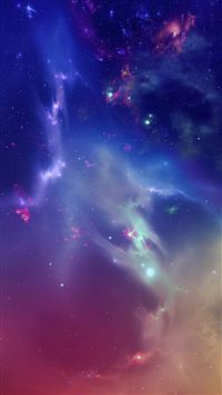 Outer Space Starry Nebula iPhone 6(s)~8(s) wallpaper