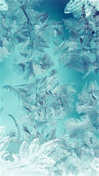 Ice Pattern Green Snow Nauture Christmas iPhone 6(s)~8(s) wallpaper