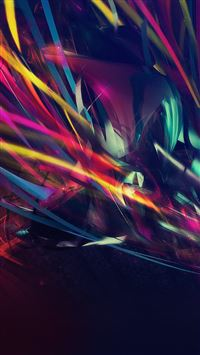 Colorful Line Abstract Art Dark Pattern iPhone 6(s)~8(s) wallpaper