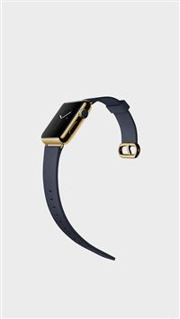 Gold Apple Watch Modern Art iPhone 6(s)~8(s) wallpaper
