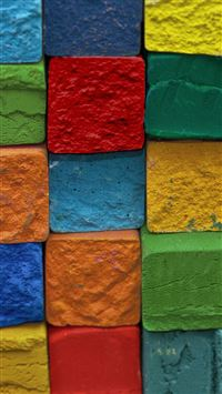 Colorful Cube Block Art Pattern iPhone 6(s)~8(s) wallpaper