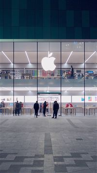 City Apple Store Front Architecture iPhone 6(s)~8(s) wallpaper