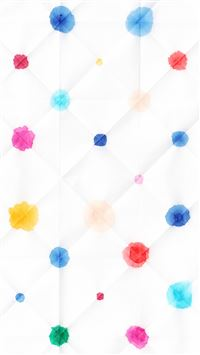 Watercolor Dots White Pattern iPhone 6(s)~8(s) wallpaper