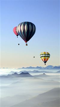 Rare Scenic Hot Air Balloon iPhone 6(s)~8(s) wallpaper