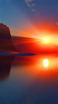 Stunning Ocean Sunset Reflection iPhone 6(s)~8(s) wallpaper