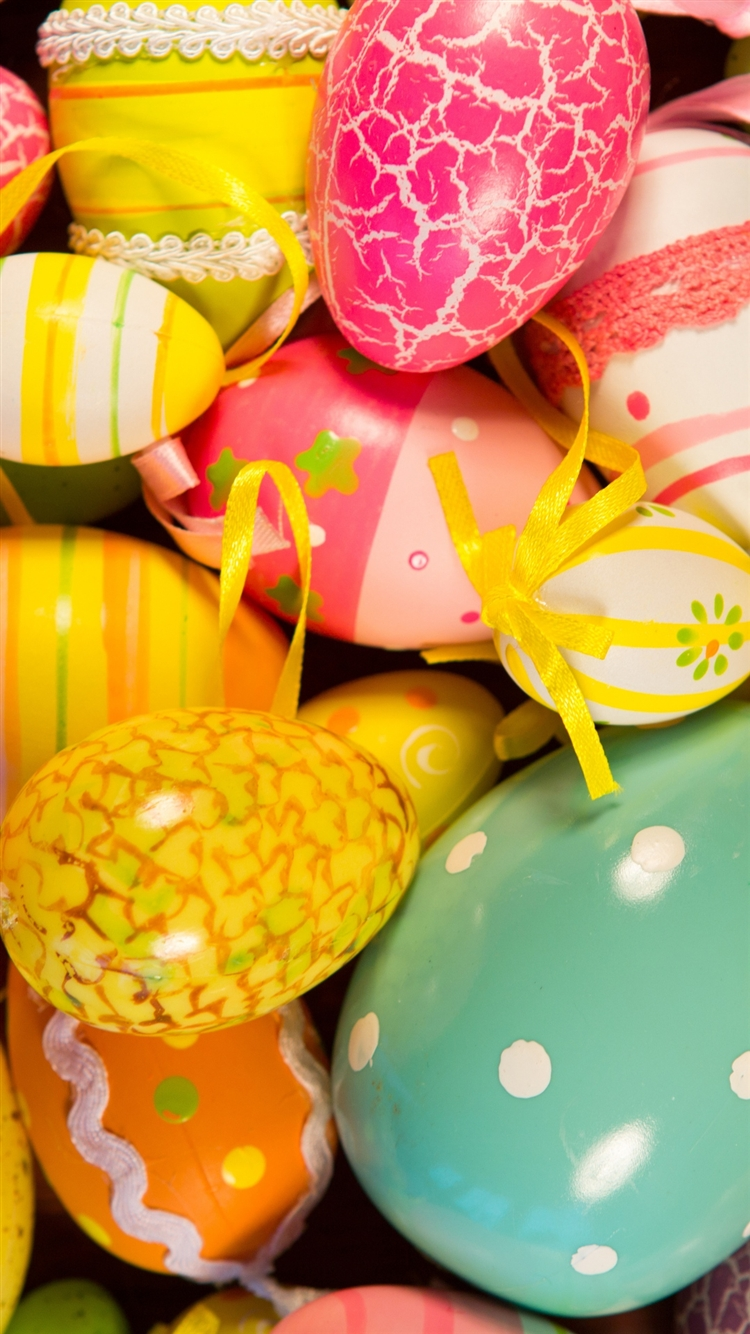 Easter Painted Eggs Holiday Iphone 8 Wallpapers Free Download