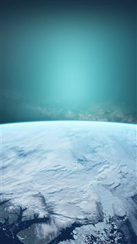 Winter Outer Space Blue Earth Surface iPhone 6(s)~8(s) wallpaper