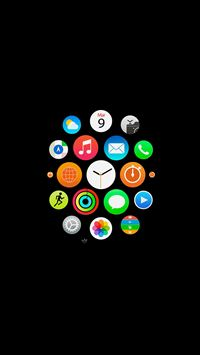 Apple Watch Icons Art Illust Dark iPhone 6(s)~8(s) wallpaper