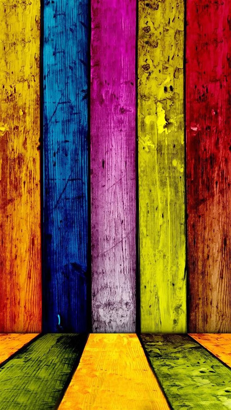colorful grunge wooden stripe pattern background iphone 8 wallpaper