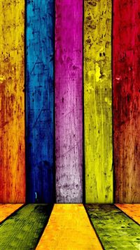 Colorful Grunge Wooden Stripe Pattern Background iPhone 6(s)~8(s) wallpaper