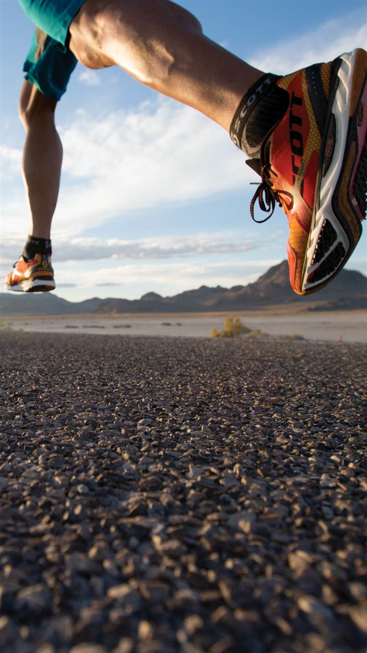 Running Hard On Road Sport Fashion Iphone 8 Wallpapers Free