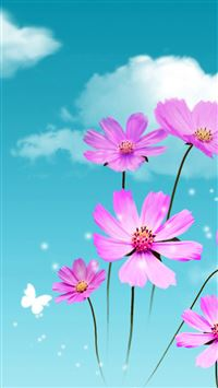 Pure Dreamy Beautiful Galsang Flower Cloudy Sky iPhone 6(s)~8(s) wallpaper