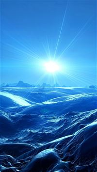 Nature Shine Cold Moonlight Over Mountain Hill Landscape iPhone 6(s)~8(s) wallpaper