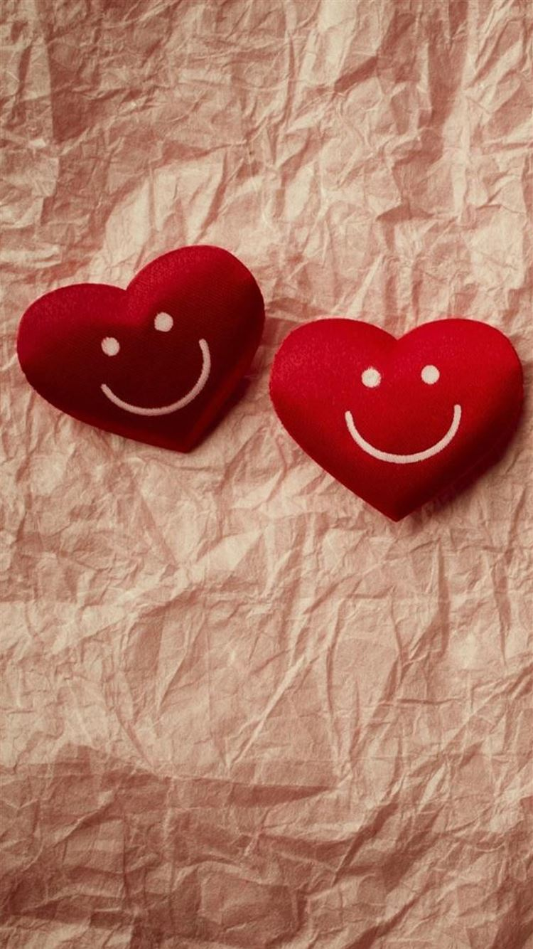 Cute Smile Love Heart Couple Fold Paper Iphone 8 Wallpapers Free Download