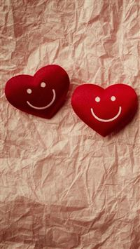 Cute Smile Love Heart Couple Fold Paper iPhone 6(s)~8(s) wallpaper