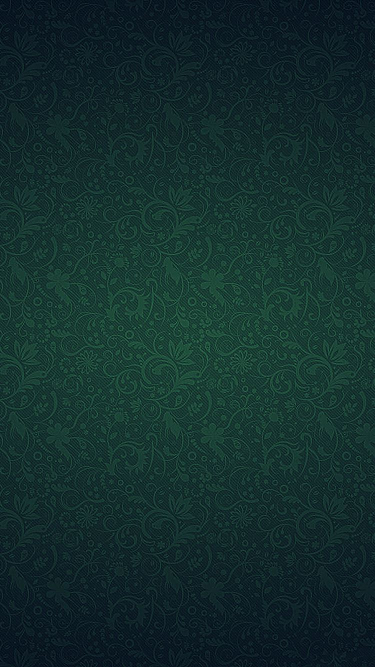 Green Ornament Texture Pattern Iphone 8 Wallpapers Free Download