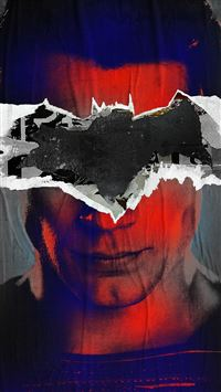 Batman Superman Poster Illust Art Film Dark iPhone 6(s)~8(s) wallpaper