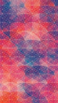 Abstract Colour Cuben Circle Background iPhone 6(s)~8(s) wallpaper