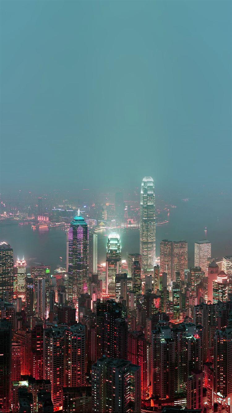 Hongkong Fire City Night Live iPhone 8
