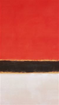 Red White Rothko Mark Paint Style Art Classic iPhone 6(s)~8(s) wallpaper