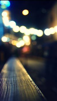 Bokeh Night City Neon Light iPhone 6(s)~8(s) wallpaper