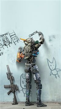 Cartoon Movie Chappie Intelligent Robot iPhone 6(s)~8(s) wallpaper