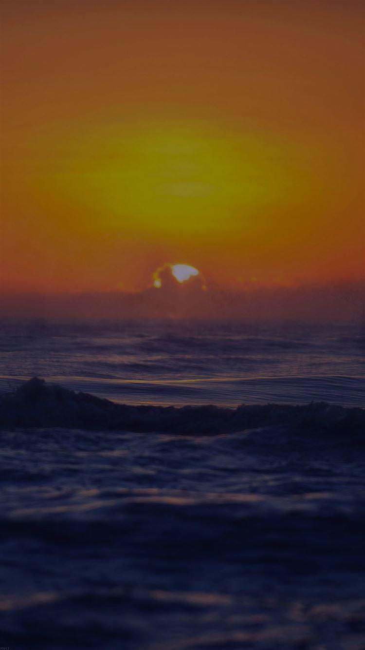 Sea Spray Dark Sunset Ocean Water Nature Iphone 8 Wallpapers Free