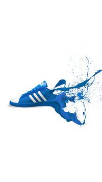 Adidas Blue Shoes Sneakers Logo Art iPhone 6(s)~8(s) wallpaper