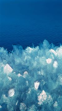 Abstract Crystal Lake Blue Ice Pattern Background iPhone 6(s)~8(s) wallpaper