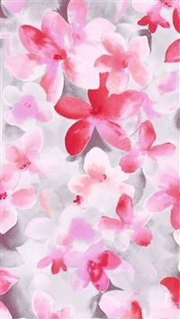 Pure Beautiful Flower Bunch Painting Art Drawn iPhone 6(s)~8(s) wallpaper