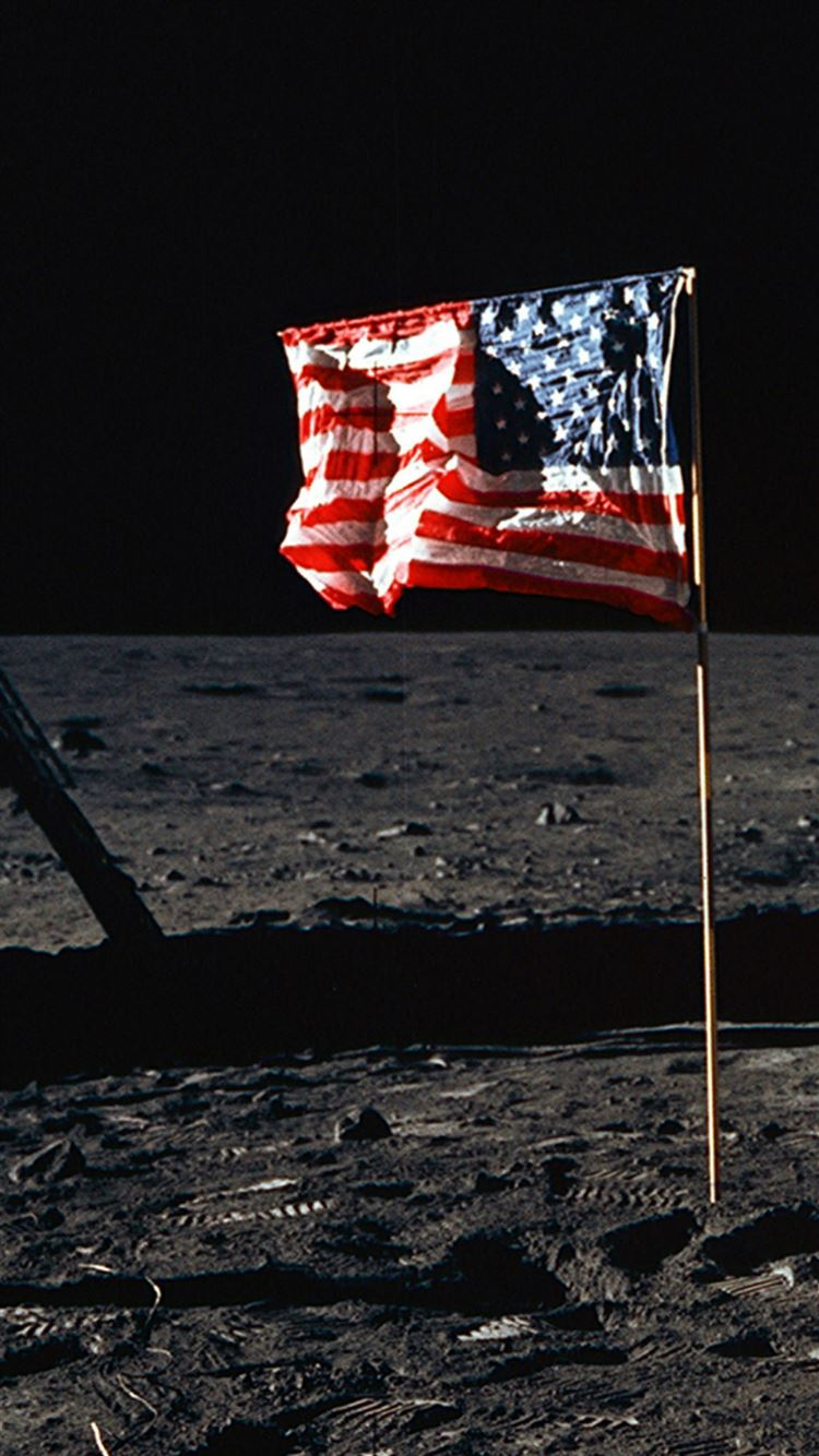 American National Flag Flying Outer Space Iphone 8